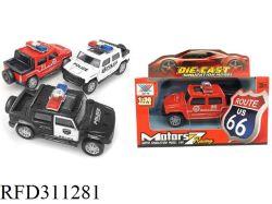 1: 36 металлических DIY игрушки модели автомобиля полицейский автомобиль