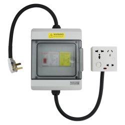 IP 65 UC 255V-400V Iimp 50kka Imax 200ka Boîte de distribution de classe 1 (classe B) TT TN Type de socket du système de protection contre la foudre protecteur de surtension