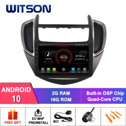 """Auto DVD des Witson 9 """" grosses Bildschirmandroid-10 für Chevrolet Trax"""