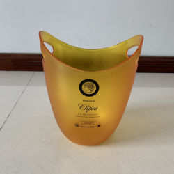 5L Wärmeübertragung-Drucken Plastik-PS-Spritzen-Bier-Eis-Wanne mit Griff für kaltes Getränk