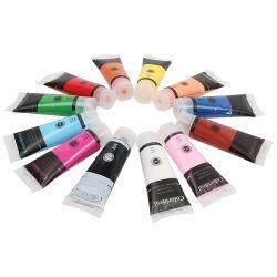 12 STUKS 75 ml buis Acrylic Colour Paint van hoge kwaliteit