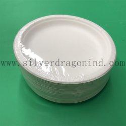 De Beschikbare Plaat van het Papier van de Pulp van het suikerriet met de Verpakking van de Krimpfolie met Sticker