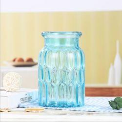 تصميم فريد من نوعه من الشمال زجاج مزهرية ملونة القطعة المركزية المزهرية للزفاف