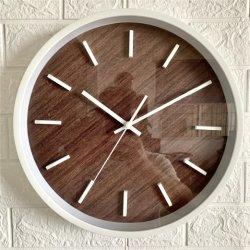 모조 목제 마스크 홈 장식 플라스틱 시계 벽