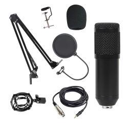 Bm800 Cabo de microfone de condensador de gravação da transmissão ao vivo do Kit de Microfones Microfone vocal para a radiodifusão e jogos de computador