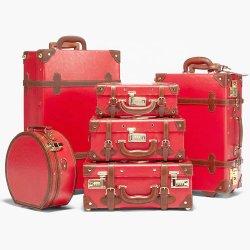 Viajes personalizados hechos a mano a granel mejor cuero de alta calidad maleta TROLLEY maletas