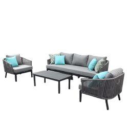 Современные горячая продажа открытый плавательный бассейн гостиницы для отдыхающих веревки терраса диван мебель
