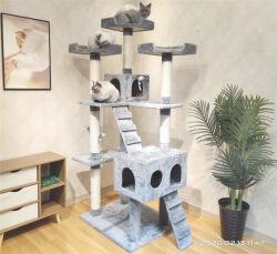 Super grosse Gr??en-Luxuxkatze, die Pfosten-Haus-Baum-M?bel-Aufsatz-interaktive Spielwaren l?scht