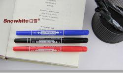 علامة توريد Office علامة بيرمانيت مزدوجة الأطراف قلم الجودة أوروبي