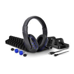 Разъем для наушников или диска с игрой в салоне зарядной станции двойного назначения для хранения кабеля для зарядки Thumbstick для Sony PS4 Dualshock