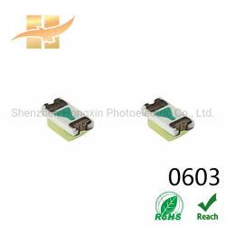 0603/전자 제품을%s 1608 1.6 x 0.8 x 0.6mm 백색 칩 LEDs
