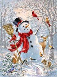 White Snowman met Broom Christmas Painting Decoration Gifts DIY Custom Kinderen Diamond Drawing