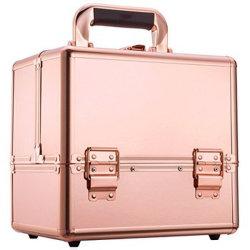 شعار مخصص علامة لون روز الذهب مربع مستحضرات التجميل حقيبة ماكياج للفنان