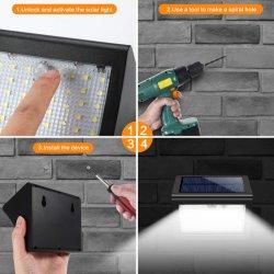 60 LED de luz solar no exterior do sensor de movimentos PIR à prova de Luz Solar Luz Jardim de sensor de infravermelho