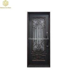 Puerta de vidrio metálico exterior resistente bastidor de acero