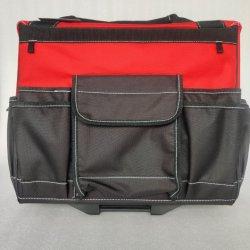 Bolsa de herramientas de rodadura duradera con la palanca de carga, el fortalecimiento de la polea, silenciosa, Múltiples bolsillos, adecuado para los electricistas, los operarios, mayor capacidad de bolsa de herramientas