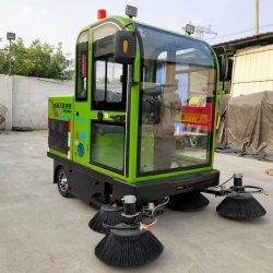 Une grande efficacité Balayeuse Sweeper Sweeper électrique de la machine de la route de la rue de la machine de nettoyage cinq brosse en nylon