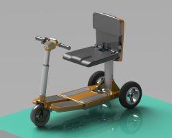 2020 Dobrável de moda Caixa de Bagagem Scooter eléctrico para jovens