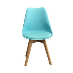 De PP Mobiliário Residencial moderna sala de jantar plástico Tulipas Piscina cadeira com pernas de faia