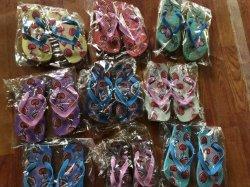 Mélanger le style d'enfants Flip Fliops pantoufles sandales194-2 Stock (FF)