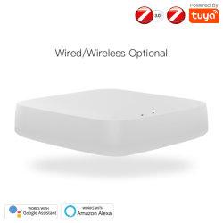 بوابة موجه ZigBee 3.0 لـ 100 Tuya Smart نظام الأتمتة المنزلية للأجهزة مع كابل USB + كابل الشبكة + مقبس Adpter في الولايات المتحدة/الاتحاد الأوروبي