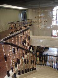 Escada de cristal corrimão em liga de Peças para varanda Interior