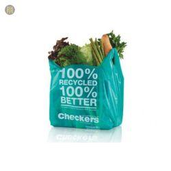 El grs de plástico recicladas certificadas Bolsa de compras, bolsa de transporte, reciclado Bolsa de compras, Bolsa autoadhesiva recicla Logotipo personalizado Imprimir bolsa de plástico