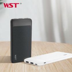 Teléfono móvil Banco de potencia 10000mAh Powerbank portátil ultrafino 20000mAh bancos de potencia