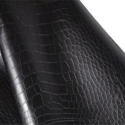 PU покрытием тиснение крокодил Черный кожаный чехол из вторичного сырья