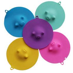 جذّابة تصميم ميتم شكّل خنزير متحمّل [سليكن روبّر] فنجان تغطية قصع تغطية