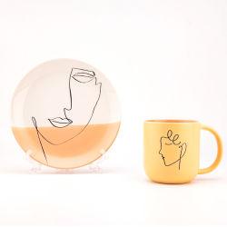 Le logo de la plaque en céramique Fashion dîner ensemble Hotel de la vaisselle en céramique vaisselle tasses