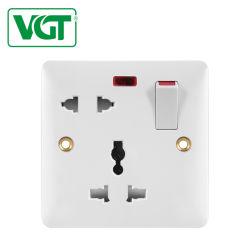 Электрические Настенные коммутаторы 5 Контакт с несколькими 13A разъема с неоновыми индикаторами ожидающего