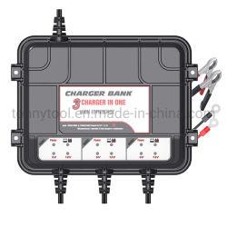 3 バンクスマートカーバッテリー充電器 / メンテナンス担当者、すべての 12V 鉛酸バッテリー用