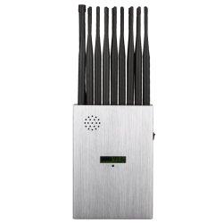 World First 18 Bands Portable 2g. 3G. 4 G. 5 g-Jammer met LCD-display en nylon hoes voor signaalblokkering tot 25 m.
