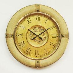 Handmade Vintage de artes decorativas de madera de engranajes industriales de gran tamaño reloj de pared