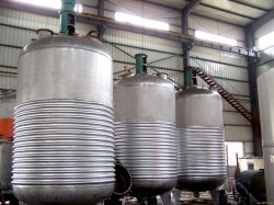Dreiachsiger PVA fester Kleber der einzelnen Mittellinien-, Polyvinylalkohol-Sammelbehälter-Reaktor-Produktion, Edelstahl-Kleber-Reaktor-Chemikalien-Gerät
