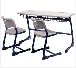 Le mobilier scolaire étudiant Double Chaise et bureau principal et de Middle School Table et chaise