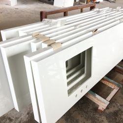 Белый цвет искусственного камня Micro Нано Выкристаллизовалась стекло для слоя панели/место на кухонном столе/на крышах в левом противосолнечном козырьке