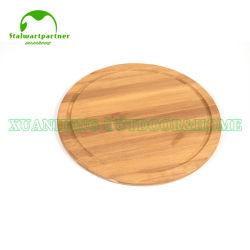 La cocina de madera de bambú natural ecológica Pan Pizza de queso Tabla de Cortar