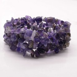 천연 Gemstone Chip Muti Stand Stetchable Bracelet