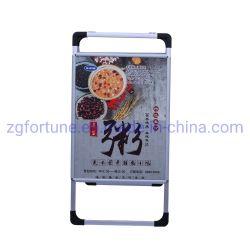 Basamento di pubblicità tenuto in mano portatile di alluminio esterno del manifesto dei due lati