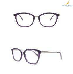 Nova combinação de acetato e Metal Senhora Óptico da estrutura de óculos