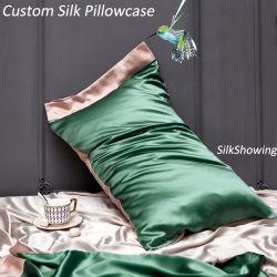 El lujo 100% seda cubierta de la funda de almohada de seda impreso Digital Productos del sueño