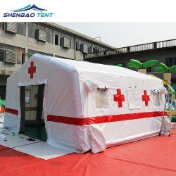 Le secours aux sinistrés des tentes abris gonflable portatif d'urgence de l'isolement portable mobile tente de l'hôpital