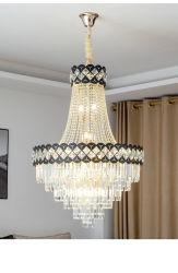 Projet Hall lustre en cristal de lumière de l'escalier E14 Lampe LED K9 Cristal clair