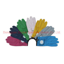 Customizied bunter Cabretta Golf-Handschuh