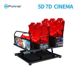 5D interattivi 7D 9d si dirigono il teatro della baracca di giro del cinematografo per il parco di divertimenti