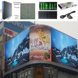 Visualizzazione di LED di pubblicità esterna di colore completo di alta qualità di P10 HD