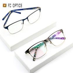 Vetri protettivi del telaio dell'ottica di Eyewear degli uomini del metallo della retro dell'acetato di punta dell'uomo visualizzazione riflettente completa dell'occhio anti