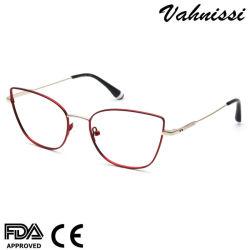 2020 de nieuwste Frames Optische Eyewear van de Glazen van het Oog van de Kat van de Vrouwen van het Metaal van het Ontwerp van de Manier